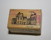 Haunted or Abandoned Houses Rubber Stamp