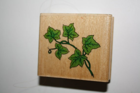 Rubber Stamp Leaves/Ivy