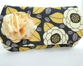 Clutch, Purse, gray and yellow SALE only one available