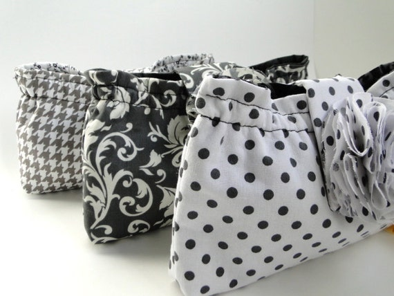 Gifts for bridesmaids, clutch, purse, SALE, 3 clutch set, gray wedding,