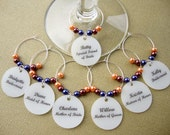 Bridal Party Wine Charms - Customized for Your Wedding