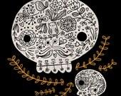 Floral Skulls - Print