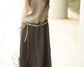 could be in love-double color long sundress(more colour and size choice)
