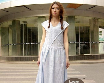Light blue refreshingly dress(more colour and size choice)