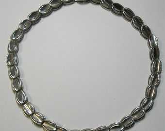 Dimensional Sterling Silver Choker Length Necklace - Taxco Sterling