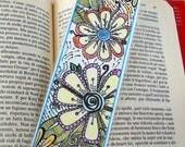 Original Zendoodle - Zentangle Art Bookmark, Laminated