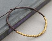 Brass Simple Adjustable Bracelet Or Anklet
