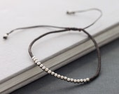 Simple Tiny Silver Bracelet Or Anklet