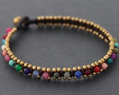 Candy Colorful Woven Anklet
