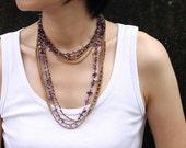Amethyst Long Wrap Necklace