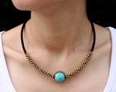 Turquoise Saturn Necklace
