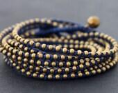 Blue Rocker Wrap Bracelet