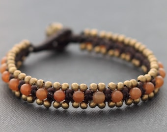 Aprico Brass Beaded Bracelet
