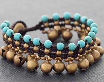 Turquoise Lace Water Drop Bracelet