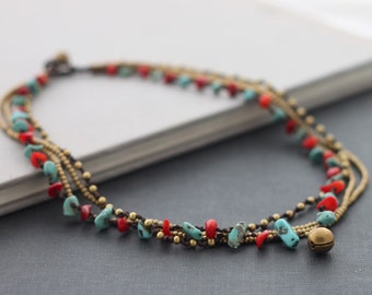 Fire And Ice Chain Necklace