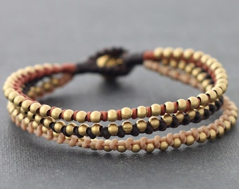 Earth Tone 3 Strand Braided Bracelet