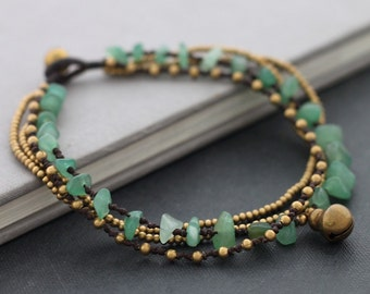 Jade Chain Layer Anklet