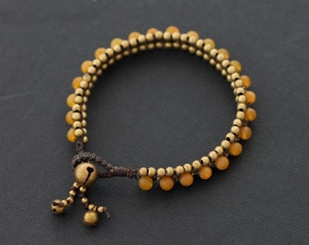 Peach Beaded Bracelet