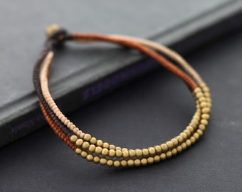 Earth Tone Woven Anklet