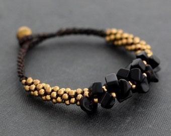 Jet Black Bunch Bracelet