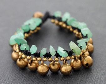 Water Drop Jade Brass Bracelet