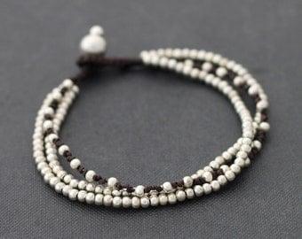 Bracelet Silver Chain Knot 3 Strand
