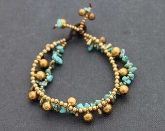 Teardrop Chain Turquoise Bracelet