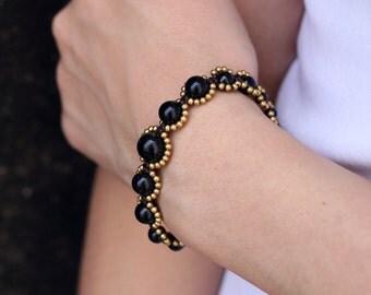 Black Onyx Rhythm Bracelet