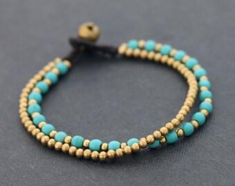 Turquoise Round Basic Bracelet
