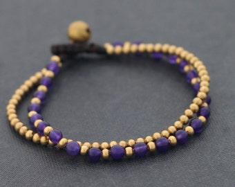 Amethyst Round Basic Bracelet