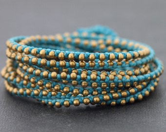Light Blue Rocker Wrap Bracelet