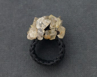 Citrine Knitted Ring