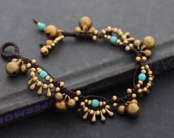 Turquoise Chandelier Drop Bracelet