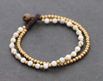 Howlite Round Basic Bracelet