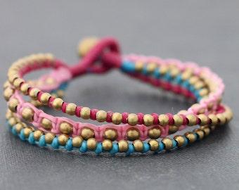 Berry Rocker Brass Beaded Bracelet