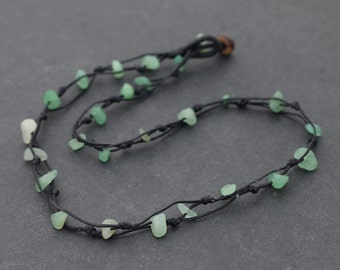 Jade Stone Knotted Necklace
