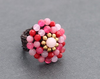 Pink Blossom Cocktail Ring