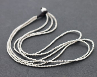 Silver 3 Strand Small Necklace
