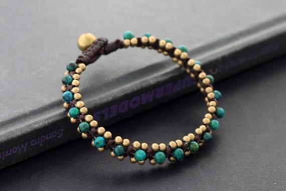 Africa Turquoise Woven Bangle Bracelet