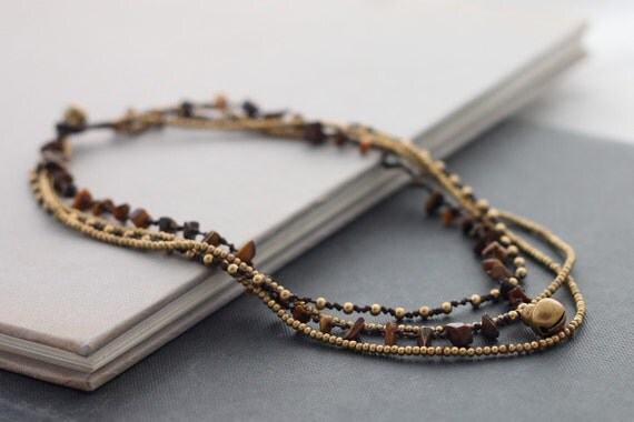Tiger Eye Chain Layer Necklace