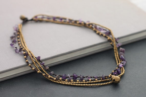 Amethyst Chain Layer Necklace