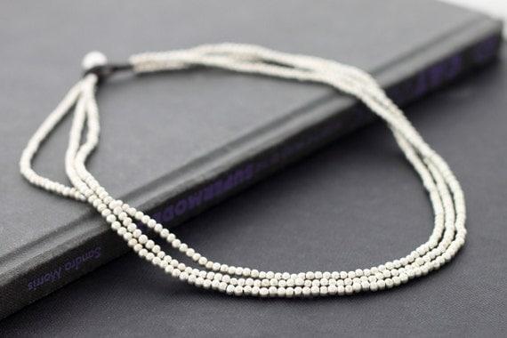 Silver 3 Strand Necklace