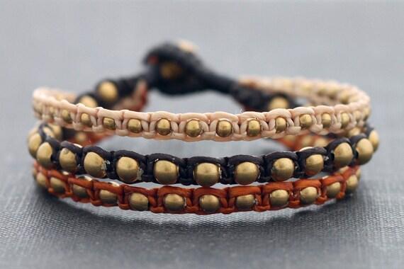 Earth Tone 3 Size Bead Bracelet