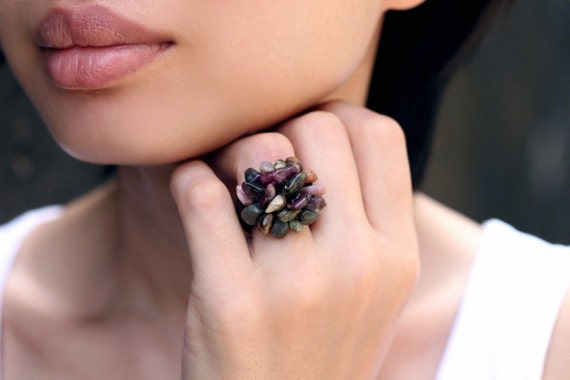 Tourmaline Knitted Ring