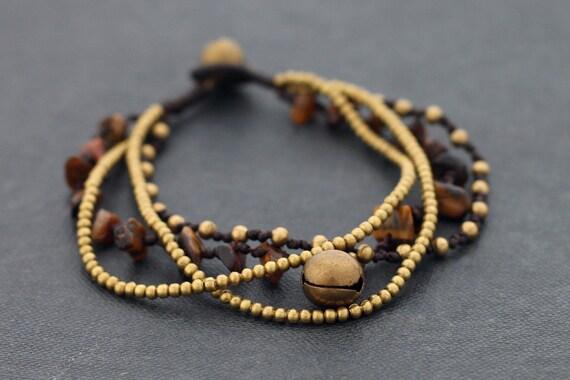 Tiger Eye Chain Layer Bracelet