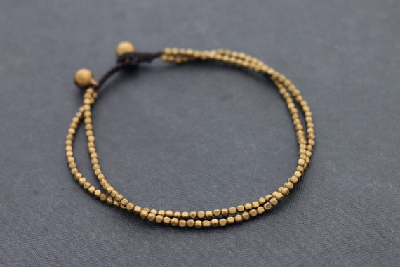 Cube Brass Double Anklet