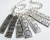 PICK SEVEN Charm, Bead, OR Stamped Name Tag Plus a Chain