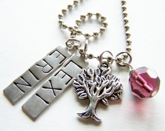 PICK FOUR Charm, Bead, OR Stamped Name Tag plus a Chain