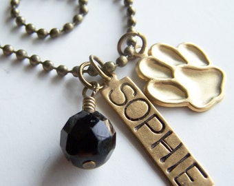 PICK THREE Charm, Bead, OR Stamped Name Tag plus a Chain
