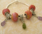 My Colorful Pandora Bracelet     FREE SHIPPING